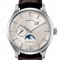 Zenith Captain Moonphase Acero 40mm Plata