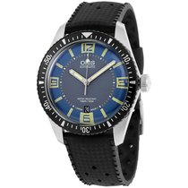 Oris Divers Sixty Five Steel Silver Arabic numerals