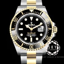 Rolex Sea-Dweller Gold/Steel 43mm Black No numerals United States of America, New York, NEW YORK