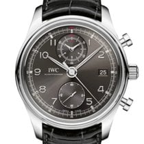 IWC Portuguese Chronograph Steel 42mm Grey Arabic numerals