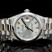Rolex Platina Automatisch Blauw 31mm tweedehands Datejust