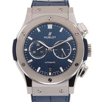 Hublot Steel Automatic Blue 42mm new Classic Fusion Chronograph