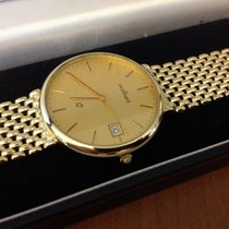 Monnard Yellow Golden Mens Watch 35 mm (14 krt)