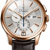 Zenith Rose gold Automatic Silver 44.5mm new El Primero Winsor Annual Calendar