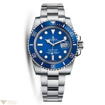 Rolex Oyster Perpetual Submariner 18K White Gold & Ceramic...