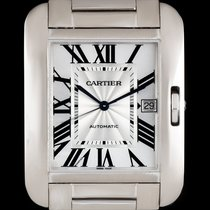 Cartier Tank Anglaise White gold 36.2mm Silver Roman numerals United Kingdom, London