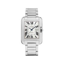 Cartier W5310024 Tank Anglaise Medium Model - White Gold on...