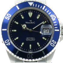 "Marcello C. ""Nettuno 3"" Blue dail and bezel. New, onworn"