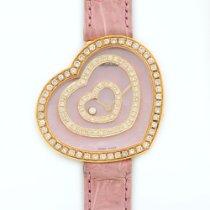 Chopard Yellow Gold Happy Spirit Heart Custom Diamond Watch