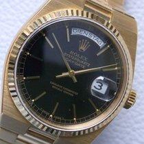 Rolex Day-Date Oysterquartz gebraucht 36mm Schwarz Datum Wochentagsanzeige Gelbgold