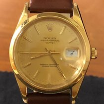 Rolex Oyster Perpetual Date Yellow gold 34mm Champagne No numerals