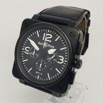 ベル & ロス BR 01-94 Chronographe ステンレス 46mm ブラック アラビア数字