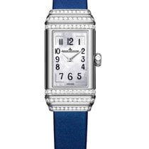 Jaeger-LeCoultre White gold Manual winding Mother of pearl 36.3mm new Reverso Duetto