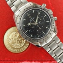 Omega Speedmaster Broad Arrow Stål 42mm Svart Ingen tall
