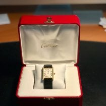 Cartier Tank Solo Yellow gold 34.5mm Blue Roman numerals United Kingdom, southend-on-sea, essex.