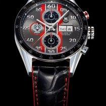 TAG Heuer Carrera Calibre 16 pre-owned 43mm Chronograph Date Calf skin