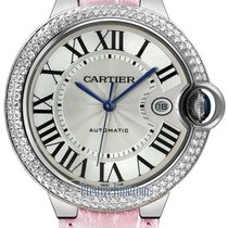 Cartier Ballon Bleu 42mm pre-owned 42mm Silver Date Crocodile skin