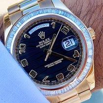 Rolex Day-Date II Yellow gold 41mm Black Roman numerals