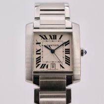 Cartier Tank Française Steel 28mm Silver Roman numerals United Kingdom, London