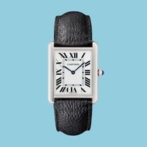Cartier Tank Solo Steel 34,8mm White Roman numerals