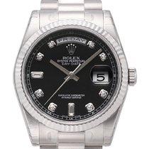 Rolex Day-Date 36 18 kt Weißgold Ref. 118239 Schwarz DIA