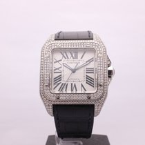 fb62b29af04 Cartier Santos 100 XL Stainless Steel Diamonds