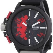 Welder by U-boat Chronograph Black PVD Steel Mens Watch Red...