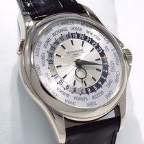 Patek Philippe 5130g 18k White Gold World Time Silver Dial...