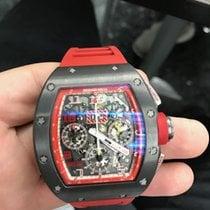 Richard Mille RM 011 rabljen 50mm Proziran Kronograf Kaučuk