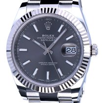 Rolex Oyster Datejust II Rhodium Dial WG Bezel 41 mm (NEW 2018)
