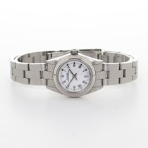 Rolex Silver Automatic White Roman numerals 24mm pre-owned Oyster Perpetual