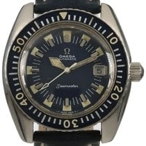 Omega Seamaster pre-owned 43mm Blue Leather