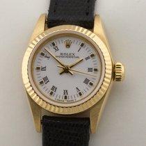 Rolex 67198 Saphirglas Saphire Gelbgold 1986 26mm gebraucht