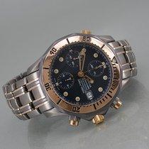Omega Titanium Automatic Blue No numerals 42mm pre-owned Seamaster Diver 300 M