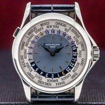 Patek Philippe World Time Platinum 37mm Blue United States of America, Massachusetts, Boston