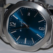 Bulgari Octo Steel 38mm Blue No numerals United States of America, New York, Greenvale