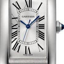 Cartier Tank Américaine Aço Prata Romanos