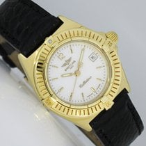Breitling Callistino Yellow gold 28mm Mother of pearl Arabic numerals
