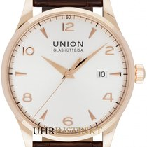 Union Glashütte Rose gold Automatic Silver 40mm new Noramis Gold