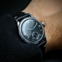 Longines Steel Black Arabic numerals
