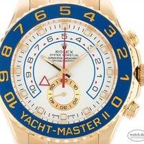 Rolex Yacht-Master II gebraucht 44mm Weiß Chronograph Gelbgold