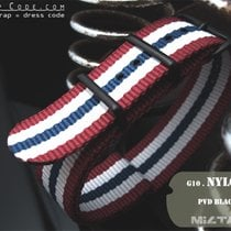 MiLTAT Thick 20mm Red White Blue NATO Band PVD