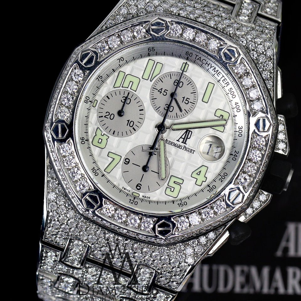 Audemars Piguet Ap Royal Oak Offshore 44mm Custom Diamonds