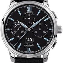 Glashütte Original Senator Chronograph Panorama Date Steel 42mm Black United States of America, New York, Airmont