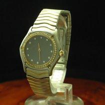 Ebel Classic Wave 18kt 750 Gold / Stahl Damenuhr Inkl Box &...