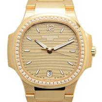 Patek Philippe Nautilus 18 K Rose Gold With Diamonds Gold...