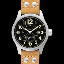 Hamilton Steel Automatic Black 44mm new Khaki Field Officer