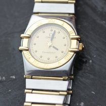 Omega Constellation pre-owned 23mm Gold Gold/Steel