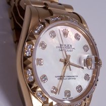 Rolex Or jaune Remontage automatique Nacre 31mm occasion Lady-Datejust