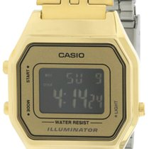 Casio Gold- Tone Digital Retro Ladies Watch